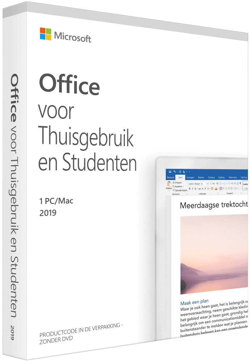 Microsoft Office 2019 licentie/productcode 1